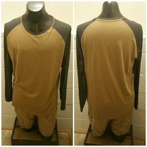 Other - Men's large khaki & grey long sleeve tee. Lg.